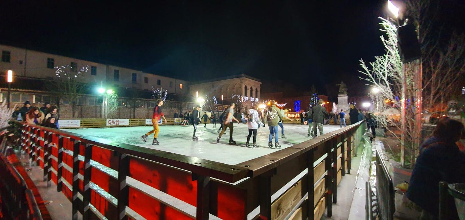 plancher bois patinoire